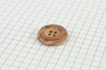 Drops Round, Wooden Button, Cedar, 20mm