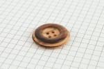Drops Round, Wooden Button, Cedar, 25mm