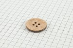 Drops Round Button, Coconut Shell, 20mm