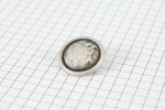 Drops Round, Rimmed Button, Silver, 20mm