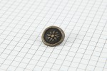 Drops Round, Inca Design Button, Brass, 15mm