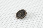 Drops Round, Inca Design Button, Brass, 20mm