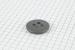 Drops Round, Metal Button, Silver, 23mm