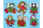 Design Works - Kittens - Set of 6 Tree Ornaments (Cross Stitch Kit)