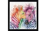 Design Works - Colourful Zebras (Cross Stitch Kit)