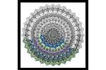Design Works - Zenbroidery Printed Fabric - Mandala (Embroidery Kit)