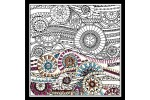 Design Works - Zenbroidery Printed Fabric - Waves (Embroidery Kit)
