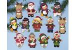 Design Works - Christmas Friends Ornaments (Applique Kit)