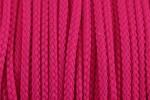 Braided Cord - Polyester - 4mm diameter - Cerise (per metre)