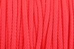 Braided Cord - Polyester - 4mm diameter - Fluorescent Pink (per metre)