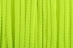 Braided Cord - Polyester - 4mm diameter - Fluorescent Yellow (per metre)