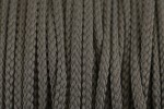 Braided Cord - Polyester - 4mm diameter - Grey (per metre)