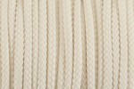Braided Cord - Polyester - 4mm diameter - Natural (per metre)