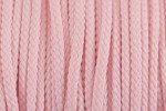 Braided Cord - Polyester - 4mm diameter - Pink (per metre)
