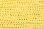 Pom Pom Trim - 7mm - Yellow (per metre)