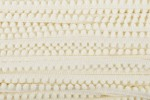 Pom Pom Trim - 7mm - Cream (per metre)