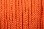 Braided Cord - Cotton Acrylic - 4mm diameter - Orange (per metre)