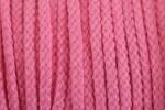 Braided Cord - Cotton Acrylic - 4mm diameter - Pink (per metre)