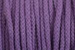Braided Cord - Cotton Acrylic - 4mm diameter - Purple (per metre)