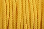 Braided Cord - Cotton Acrylic - 4mm diameter - Yellow (per metre)