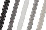 Striped Ribbon - Cotton Acrylic - 17mm wide (per metre)