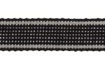 Striped Ribbon - Cotton Acrylic - 17mm wide - Black (per metre)