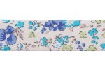 Bias Binding - Cotton - 20mm wide - Ditsy Floral Purple Turquoise Cream (per metre)
