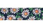 Bias Binding - Cotton - 20mm wide - Daisy Print on Navy (per metre)