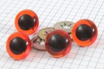 Safety Eyes, Amber, 18mm (pack of 4)
