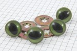 Cat Safety Eyes, Green, 15mm (pack of 4)