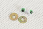 Frog Safety Eyes, Green, 16mm (pack of 2)