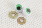 Frog Safety Eyes, Green, 24mm (pack of 2)