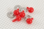 Ball Safety Noses, 15mm, Red (pack of 5)