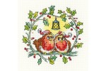 Heritage Crafts - Birds of a Feather - Christmas Robins (Cross Stitch Kit)