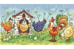 Heritage Crafts - Birds of a Feather - Happy Hens (Cross Stitch Kit)