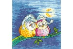 Heritage Crafts - Birds of a Feather - Night Owls (Cross Stitch Kit)