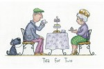 Heritage Crafts - Golden Years by Peter Underhill - Tea for Two (Cross Stitch Kit)
