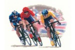 Heritage Crafts - John Clayton - Sporting Scenes - Cycle Race (Cross Stitch Kit)