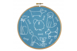 Hawthorn Handmade - Contemporary Embroidery Kit - Dandy Dogs