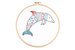 Hawthorn Handmade - Contemporary Embroidery Kit - Dolphin
