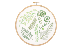 Hawthorn Handmade - Contemporary Embroidery Kit - Forest Ferns
