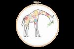 Hawthorn Handmade - Contemporary Embroidery Kit - Giraffe