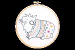 Hawthorn Handmade - Contemporary Embroidery Kit - Guinea Pig