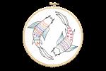 Hawthorn Handmade - Contemporary Embroidery Kit - Koi Carp