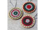Hawthorn Handmade - Go Weave Brooch Kit - Red, Green & Light Grey