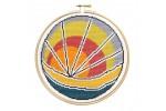 Hawthorn Handmade - Contemporary Cross Stitch Kit - Sunset Beach