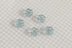 Flower Shape Buttons, Transparent Blue, 15mm (pack of 5)