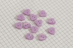 Heart Shape Buttons, Pearlescent Lilac, 12.5mm (pack of 12)