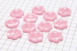 Flower Shape Buttons, Pearlescent Baby Pink, 12.5mm (pack of 12)