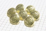 Round Anchor Buttons, Gold, 15mm (pack of 7)